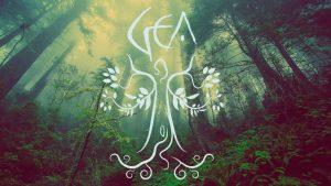 Logotipo de Gea con bosque detrás